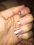 silver color nail
