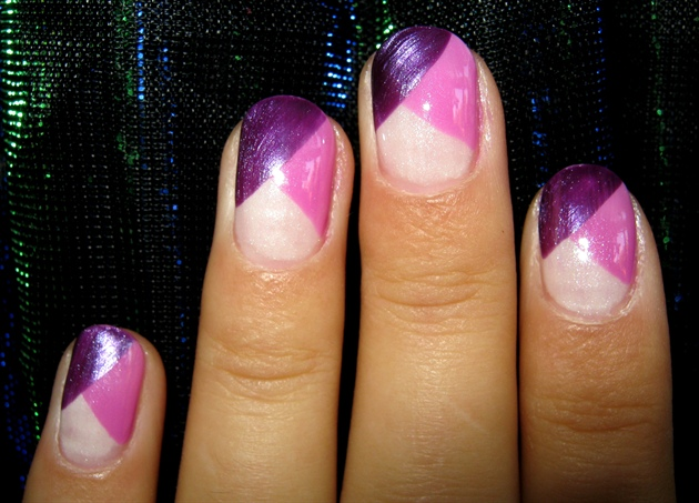 Metallic Shade Manicure