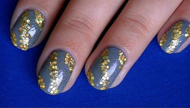 Fall Gold and Grey with Glitter