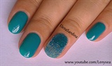 Caviar Ombre Frosted Nail Design