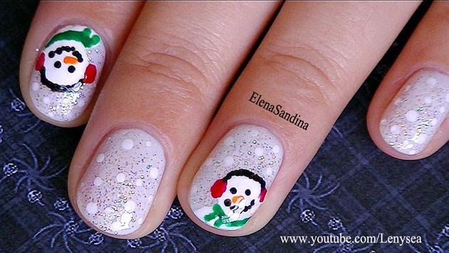 Snowman Nail Design Nail Art Gallery