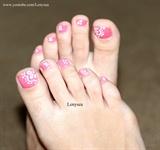 Pink Lace Pedi