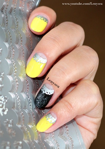 Elegant Half Moon Manicure