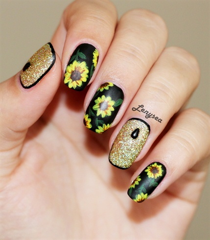 Sunflowers and Glitter