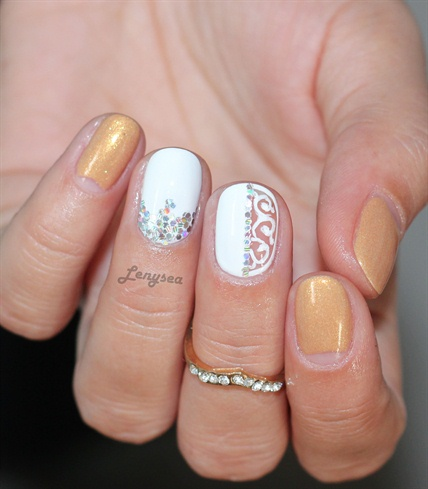 Negative Space Elegant Nails