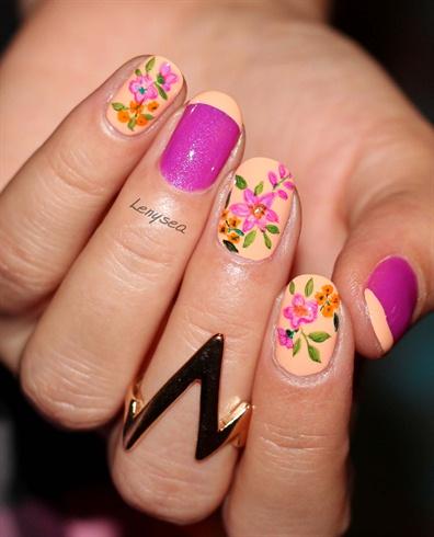 summer floral nails  nail art gallery