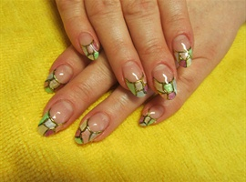 nail art: hand painted