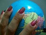 Brown-Glitter Pink