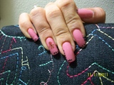 Old Pink & Black Dots