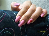 Old Pink & Black Dots 2