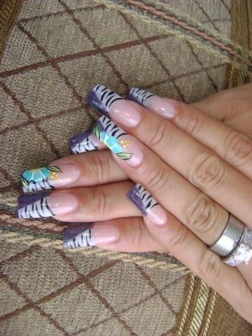 Purple & zebra