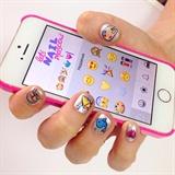 emoji nails ☺️💅💕✨💐❤️🌴