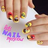 tropical summer nails 🌴
