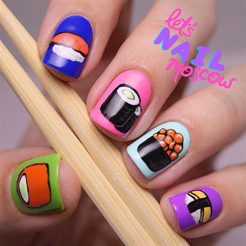 sushi nails!! 💕🍣🍱🍜