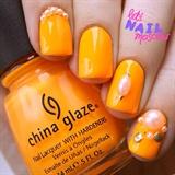 orange neon nails 🍊