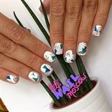 geometric print nails 🔷