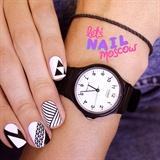 geometric nails ✖️🔲✖️