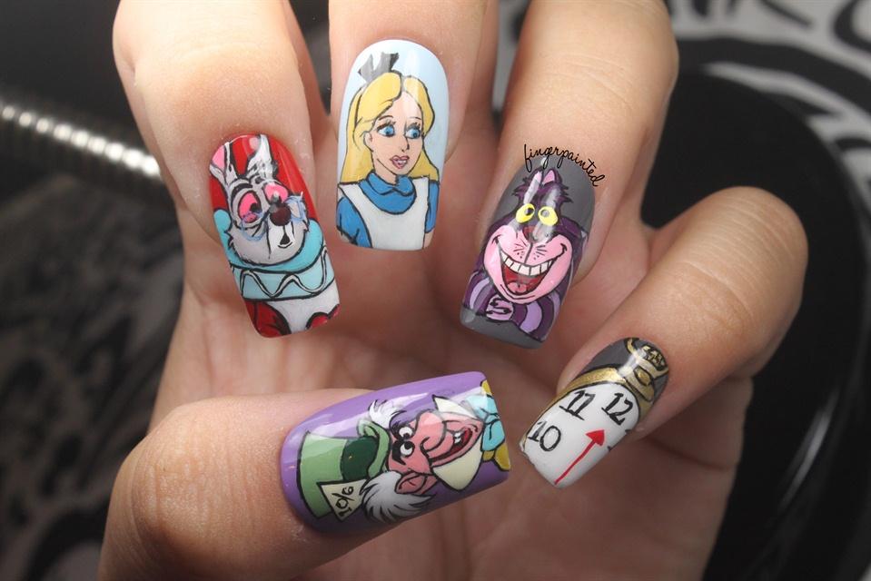 Alice In Wonderland Nails Nail Art Gallery