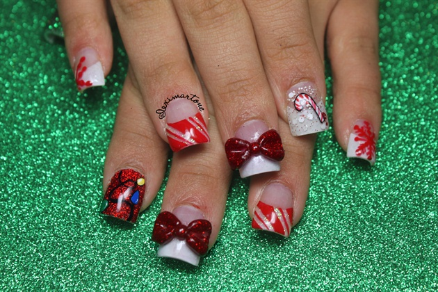 Christmas Glitter Nail Art!