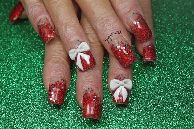 Christmas Glitter Nails Nail Art Gallery