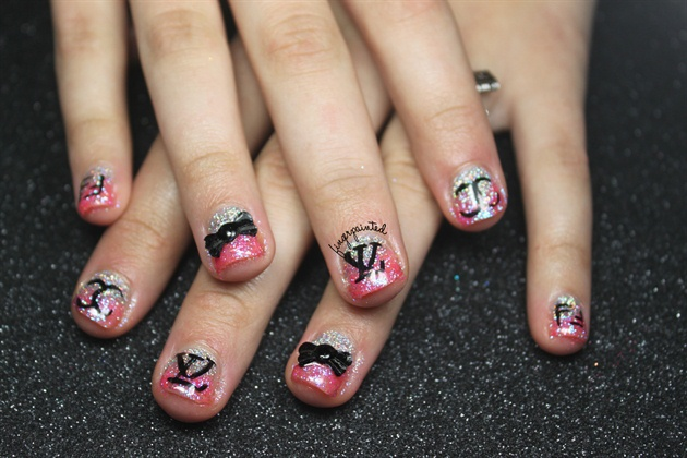 Designer Glitter Gel Nails Nail Art Gallery