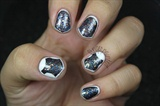 Glitter Outline Nails!