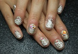 Nude & White Tribal Rhinestones