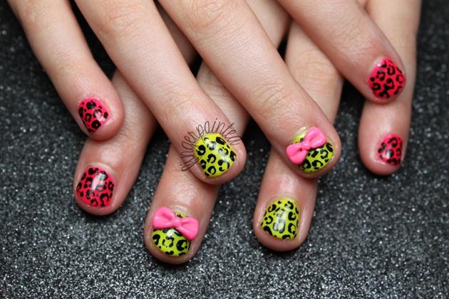 Neon Cheetah Bows