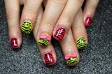 Neon Zebra Bows