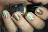 Pastel Glitter V-Gap Nails