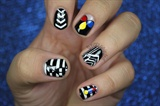 Black & White Geometric Nails