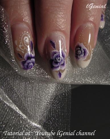 Purple Rose One Stroke
