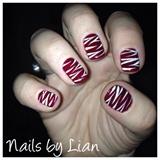 Tiger Freehand Nail Art