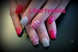 Pink Glitter and Chevron