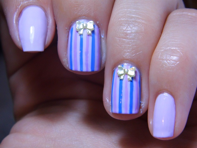 Funky Stripes with Bow