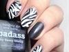 Zebra Print Nail Art