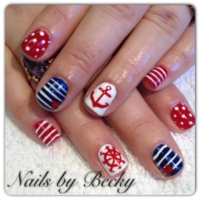 Nautical Nail Art Nautical Nails Nail Art