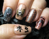 Silence of the Lambs Nail Art