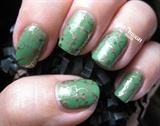 Green Glitter Marble