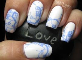 nail art: Bone China Inspired