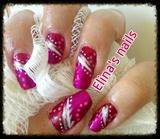 Abstract nail design.