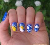 weather forecast nail art