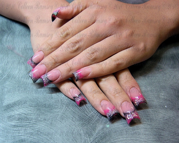 Pink Black an Silver California Flares