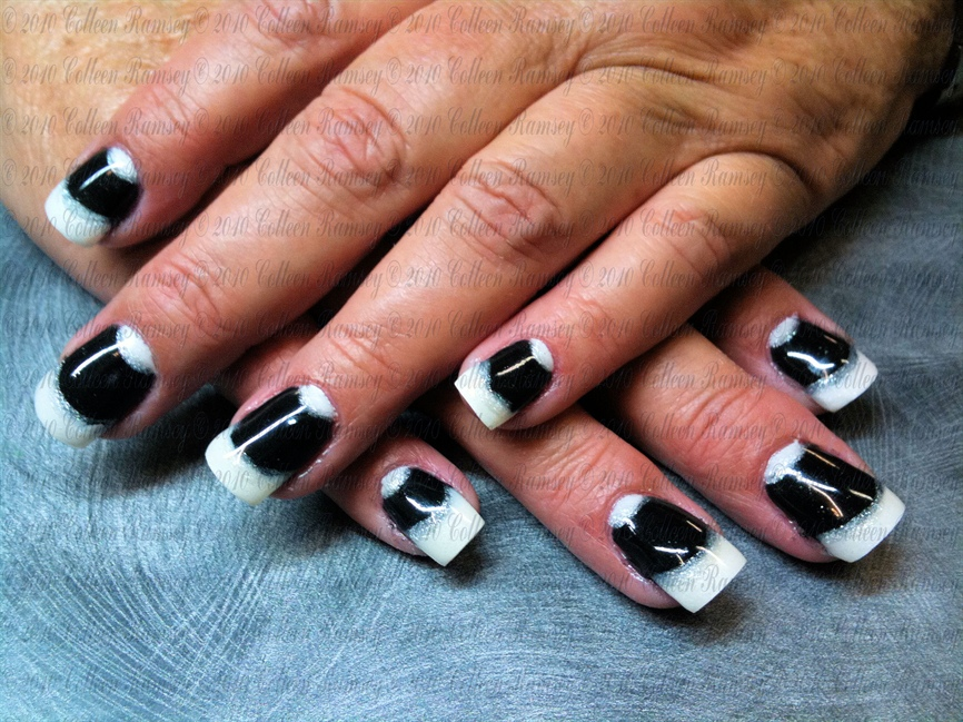 Black an White gel - Nail Art Gallery