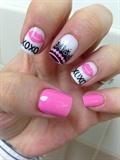 Xoxo Pink Nail Art