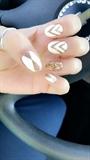 White And Gold Design