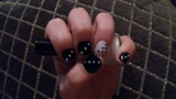 black n white with dots