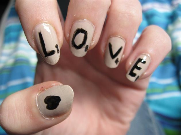 Scrabble Love Nail Art Gallery