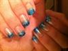 Faded blue glitter