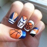Nail art gallery basketball nail art photos ny knicks prinsesfo Choice Image